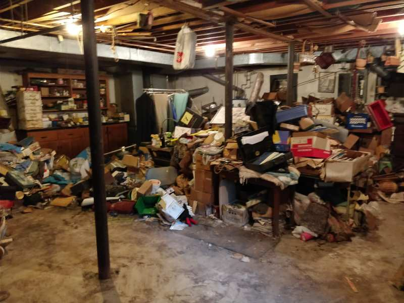 hoarder house after junk removal