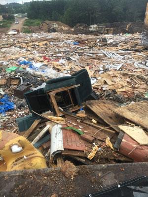Landfill full of junk